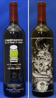 Emerald City Comicon / Marc Silvestri etched wine bottle Comic Art